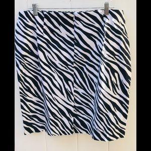 Jones New York zebra print skirt size 16